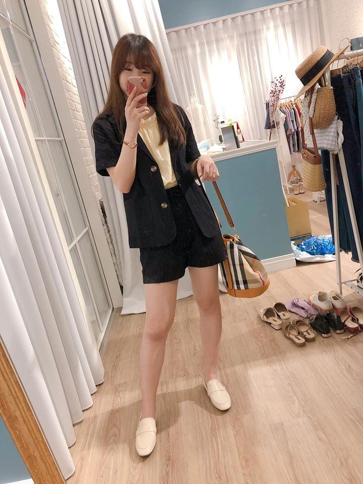 【預購】韓國訂單.版型好的短袖棉麻西裝套裝