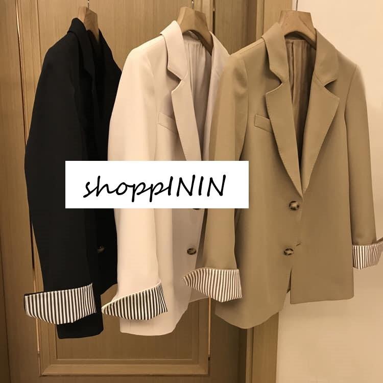 【預購】好版型!設計款 質感反摺袖 厚雪紡西裝外套~3色