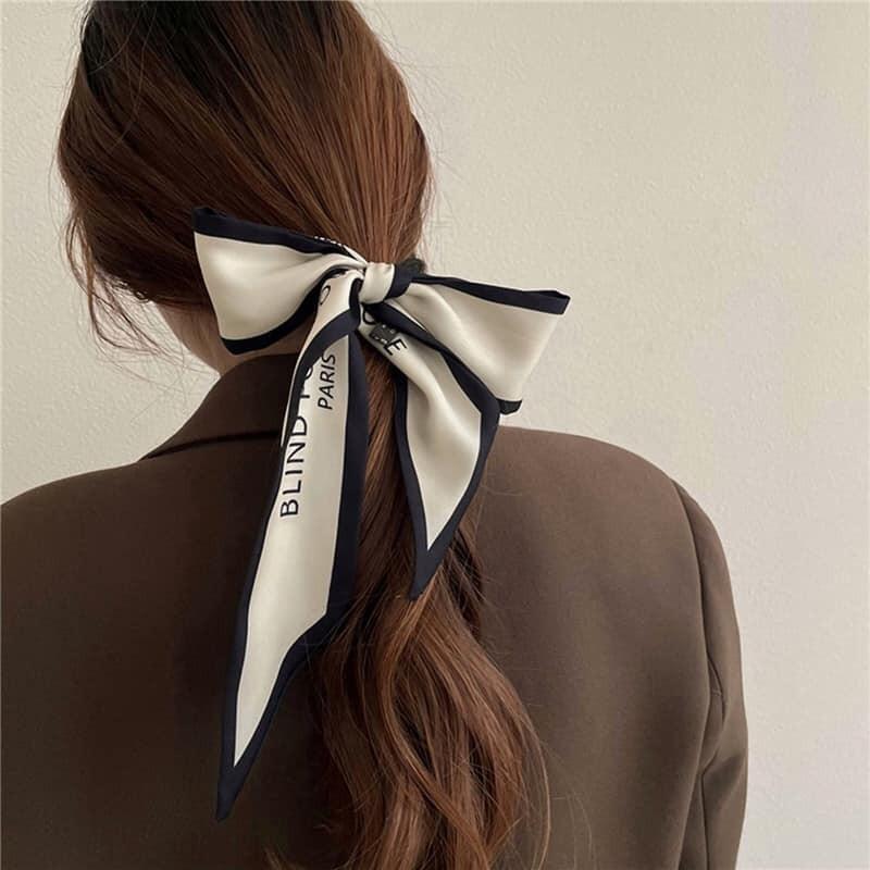 【預購】法式優雅配件.超實用小絲巾綁髮帶~3色