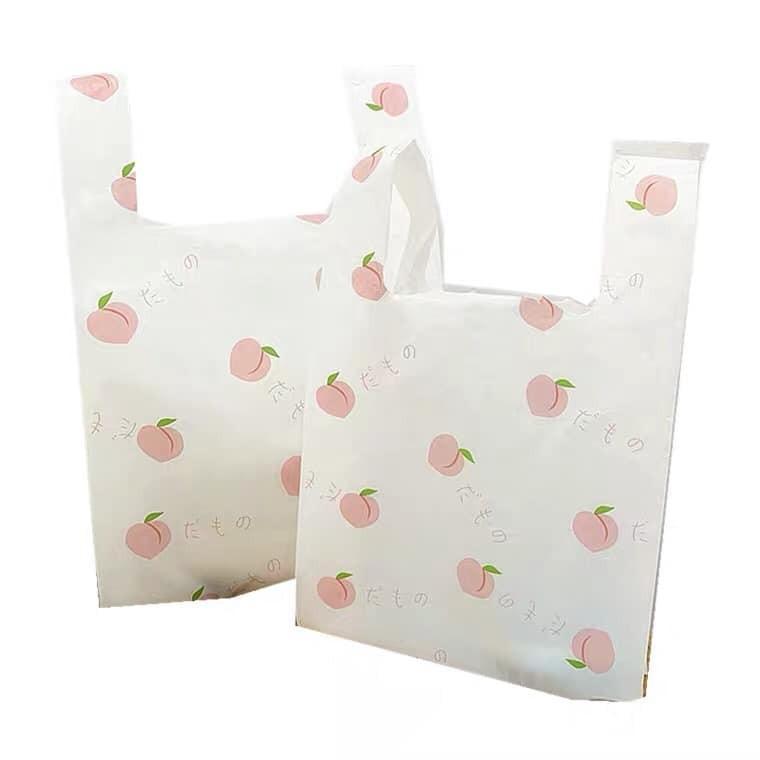 【預購】人間水蜜桃.療癒系超實用印花塑膠提袋~4種尺寸