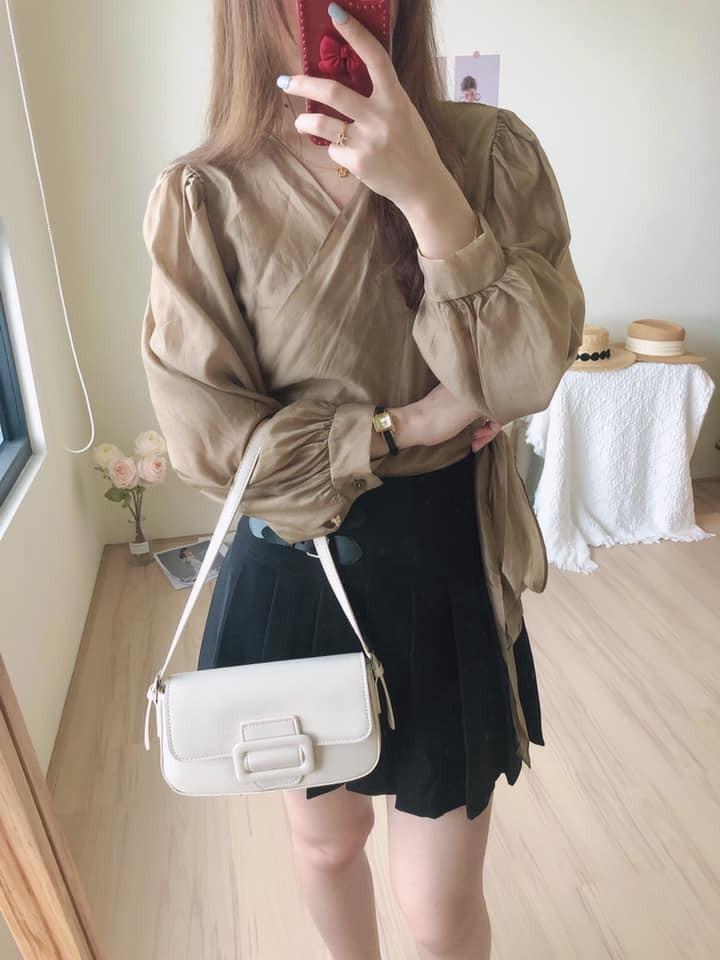 【預購】韓國訂單.小眾設計款 顯瘦綁帶襯衫~2色(少量,售完為止)
