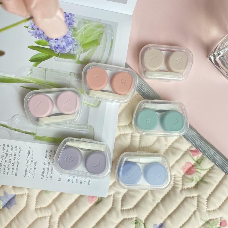 【現貨】欠囤貨!馬卡龍色系隱形眼鏡盒~6色(顏色隨機出貨)