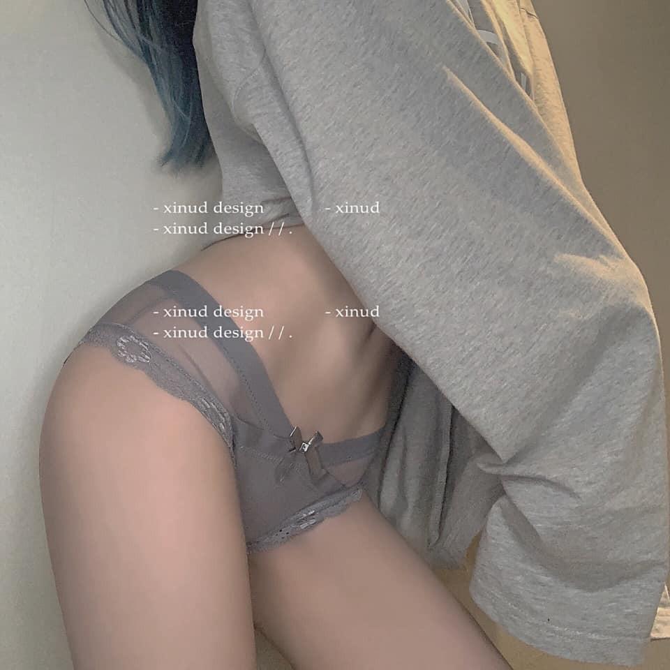 【預購】交叉網紗.衣櫃也要放幾件的低腰性感小內內~5色