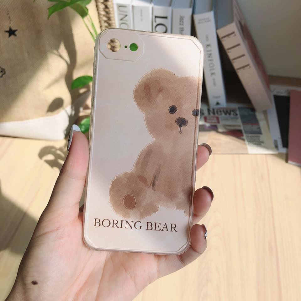 【預購】質感韓系 手繪風格小熊 iphone手機殼