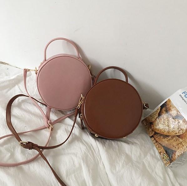 【預購】無法抵抗!超百搭法式質感小圓包~2色