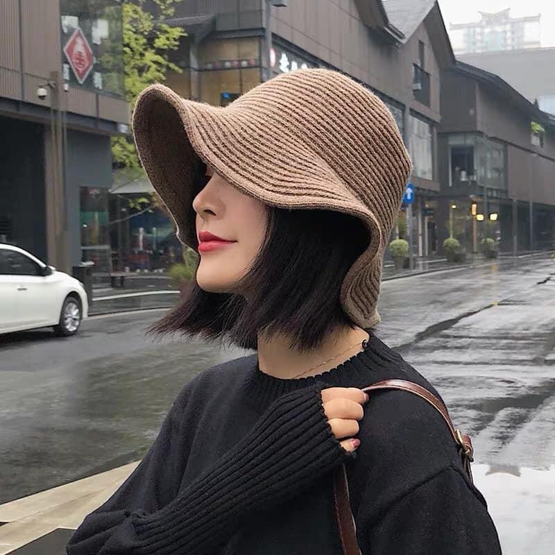 【預購】秋冬穿搭必備單品!厚針織漁夫帽~5色