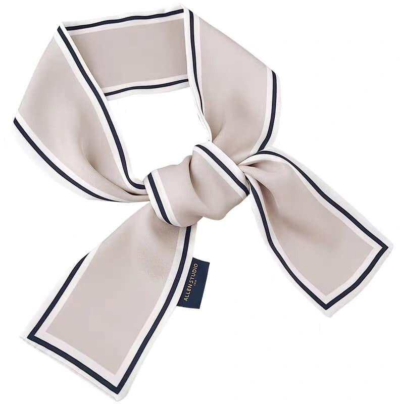 【預購】氣質法式風.撞色款長領巾~6色