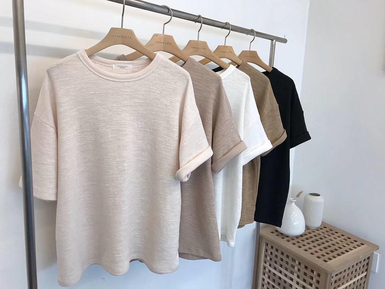 【韓製.預購】簡單生活.看就知道很有質感的短袖Tee~5色