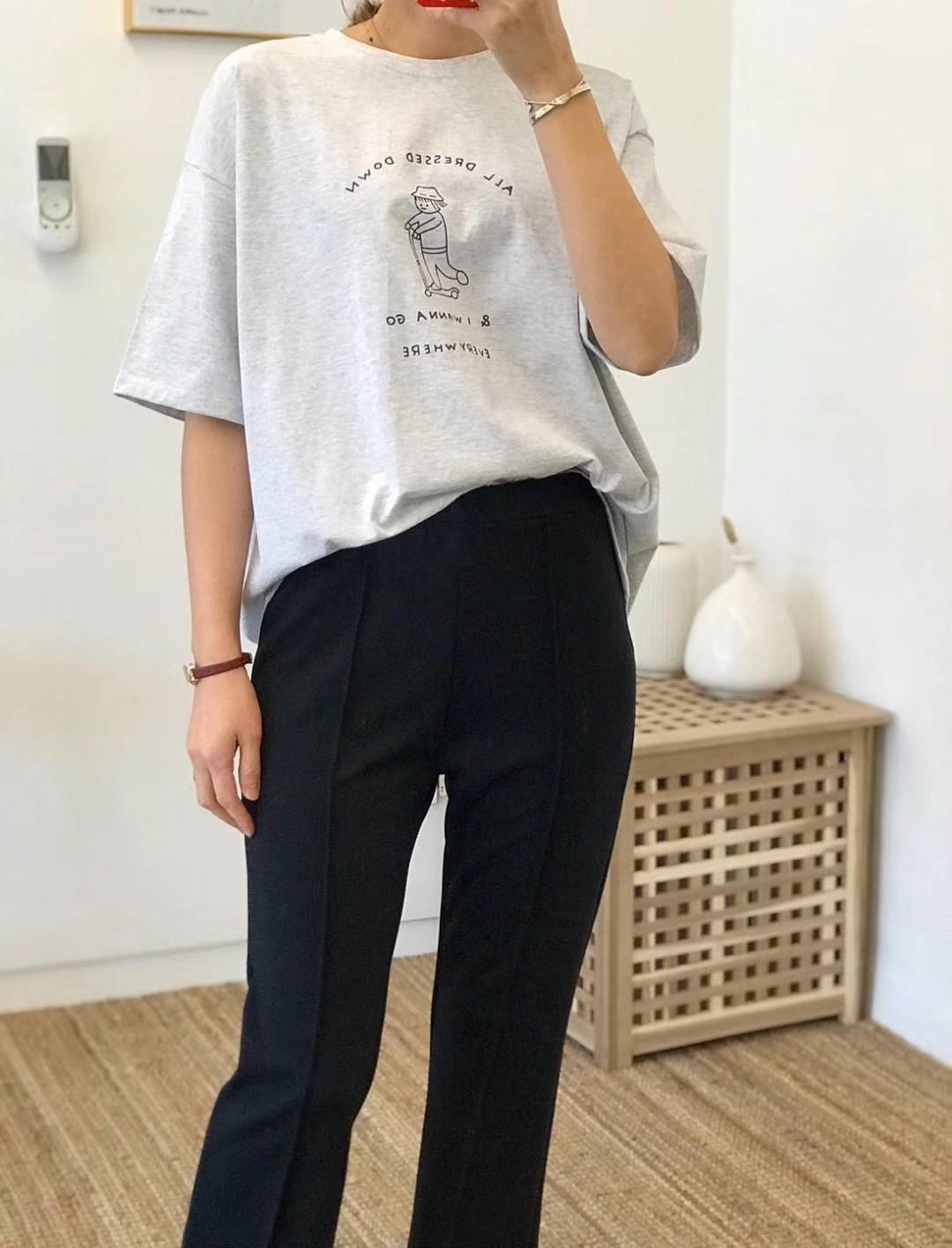 【韓製.預購】假日想穿的印花短袖 Tee~3色