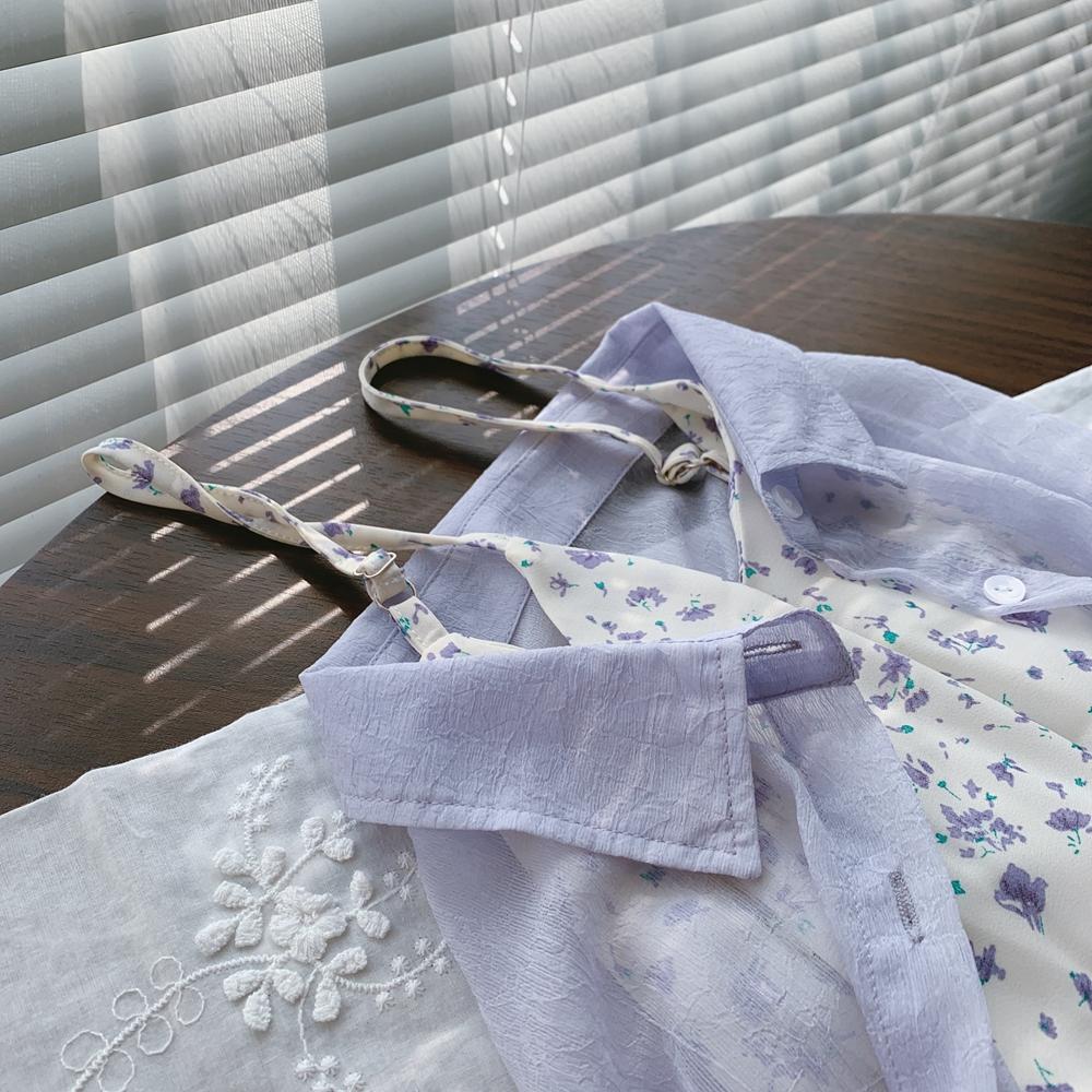 【預購】知性女子專用.微性感立體紋理薄防曬罩衫~5色