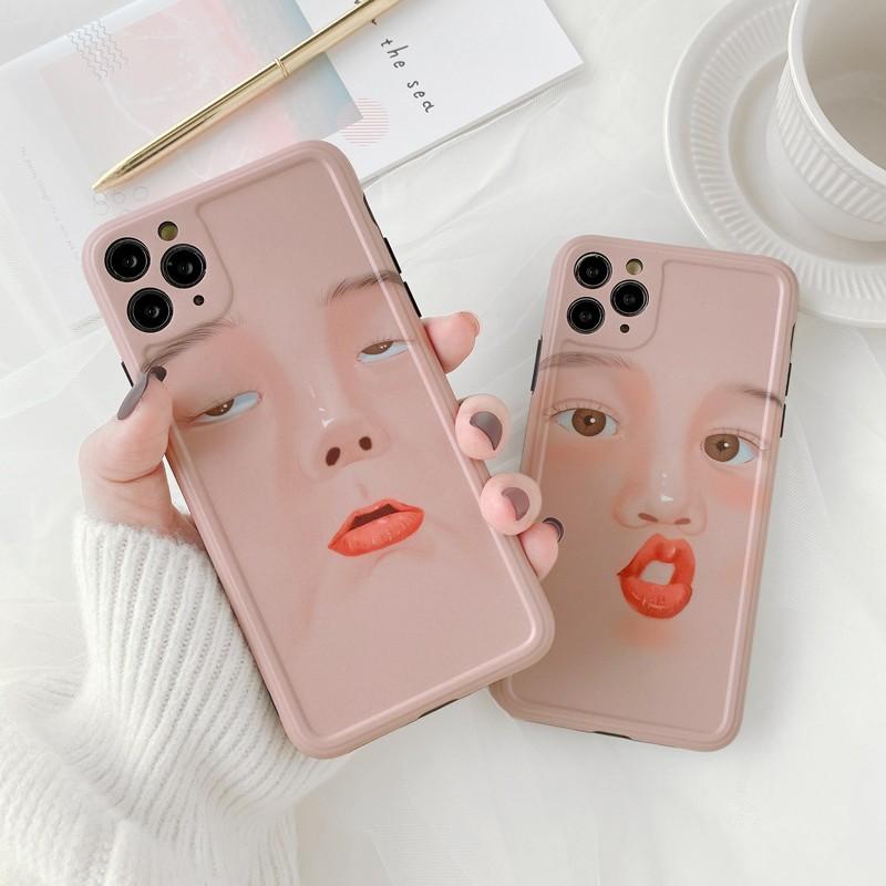 【預購】哪個我比較可愛?Iphone搞怪表情手機軟殼~2款