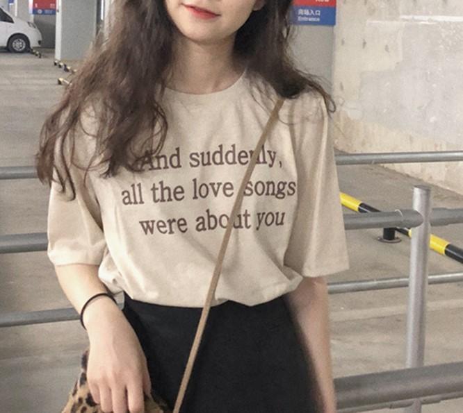 【預購】韓春夏款字母棉質短袖T-SHIRT~2色