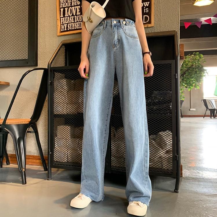 【預購】大長腿系列!全長拖地牛仔微寬褲