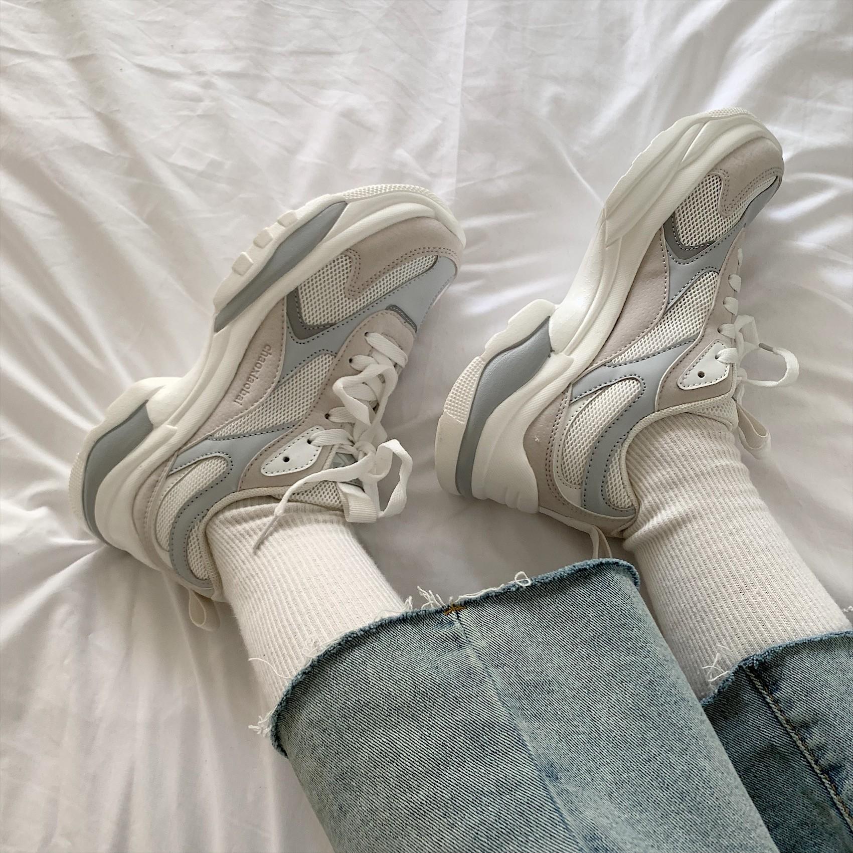 【預購】韓版柔和拼色老爹鞋~2色