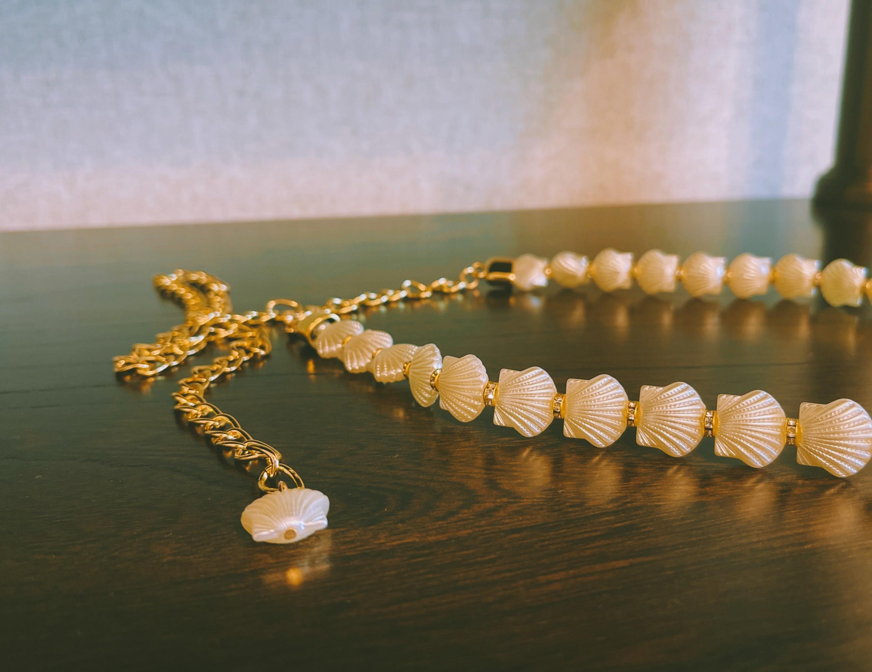 【預購】設計師款.輕奢  珍珠扣可調節腰帶腰封