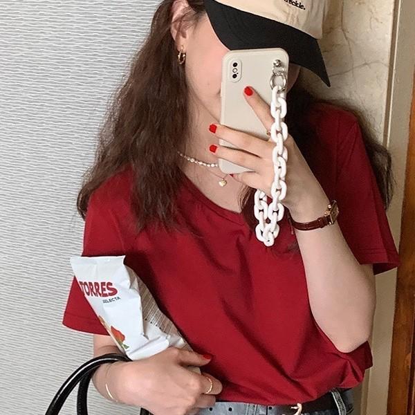 【預購】經典款!純棉V領短袖Tee~4色