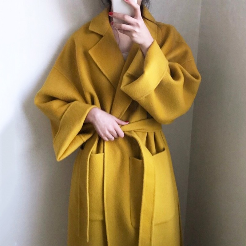【預購】率性質感.知性女子秋冬款西裝領毛呢大衣~2色