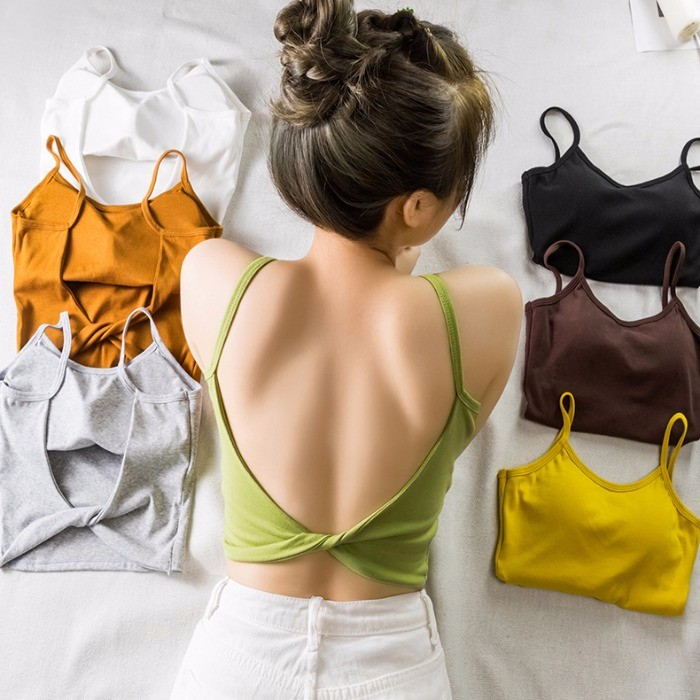 【預購】必備款!可單穿可內搭的超美扭結背心(含胸墊)~7色