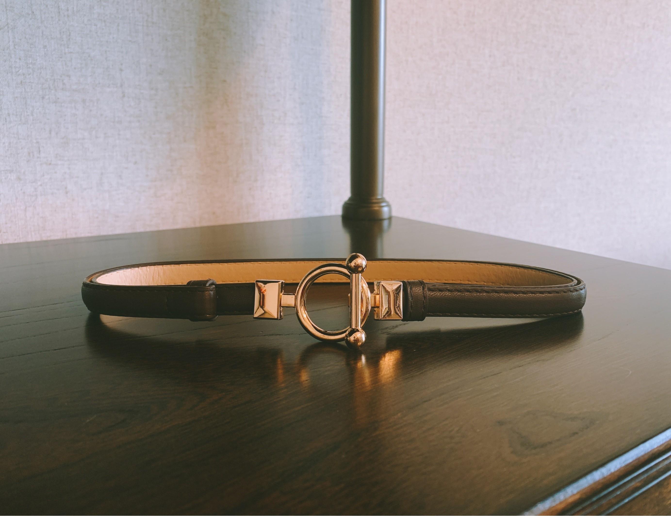 【預購】設計師款.經典 金屬扣腰封皮帶~3色