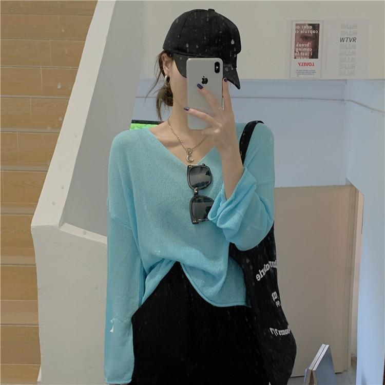 【預購】日常百搭款.素色薄針織罩衫上衣~4色