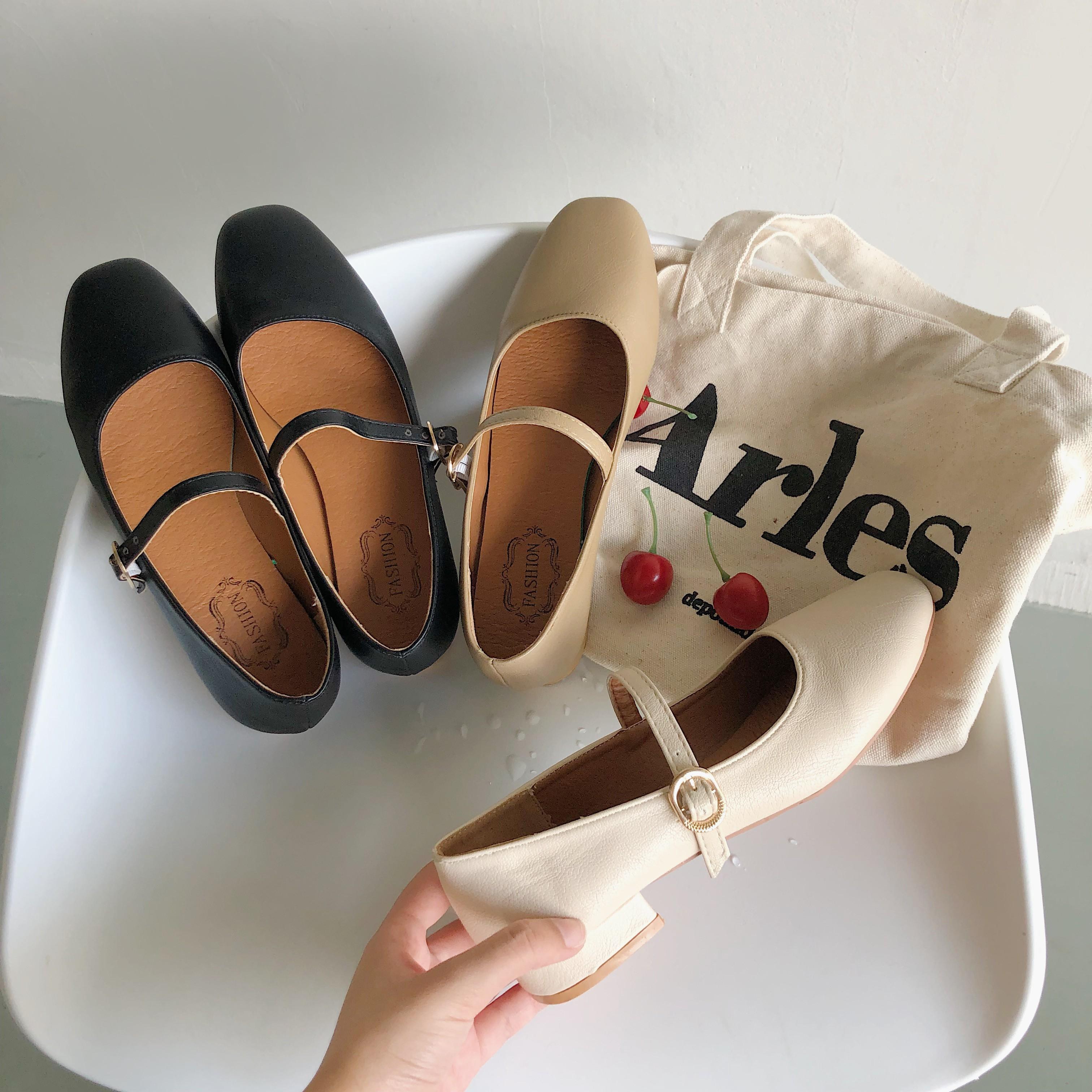 【預購】日系簡約風瑪莉珍低跟鞋~3色