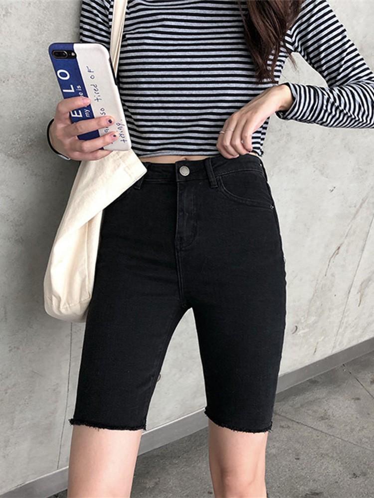 【預購】歐膩的衣櫃.大腿瘦瘦彈力五分褲