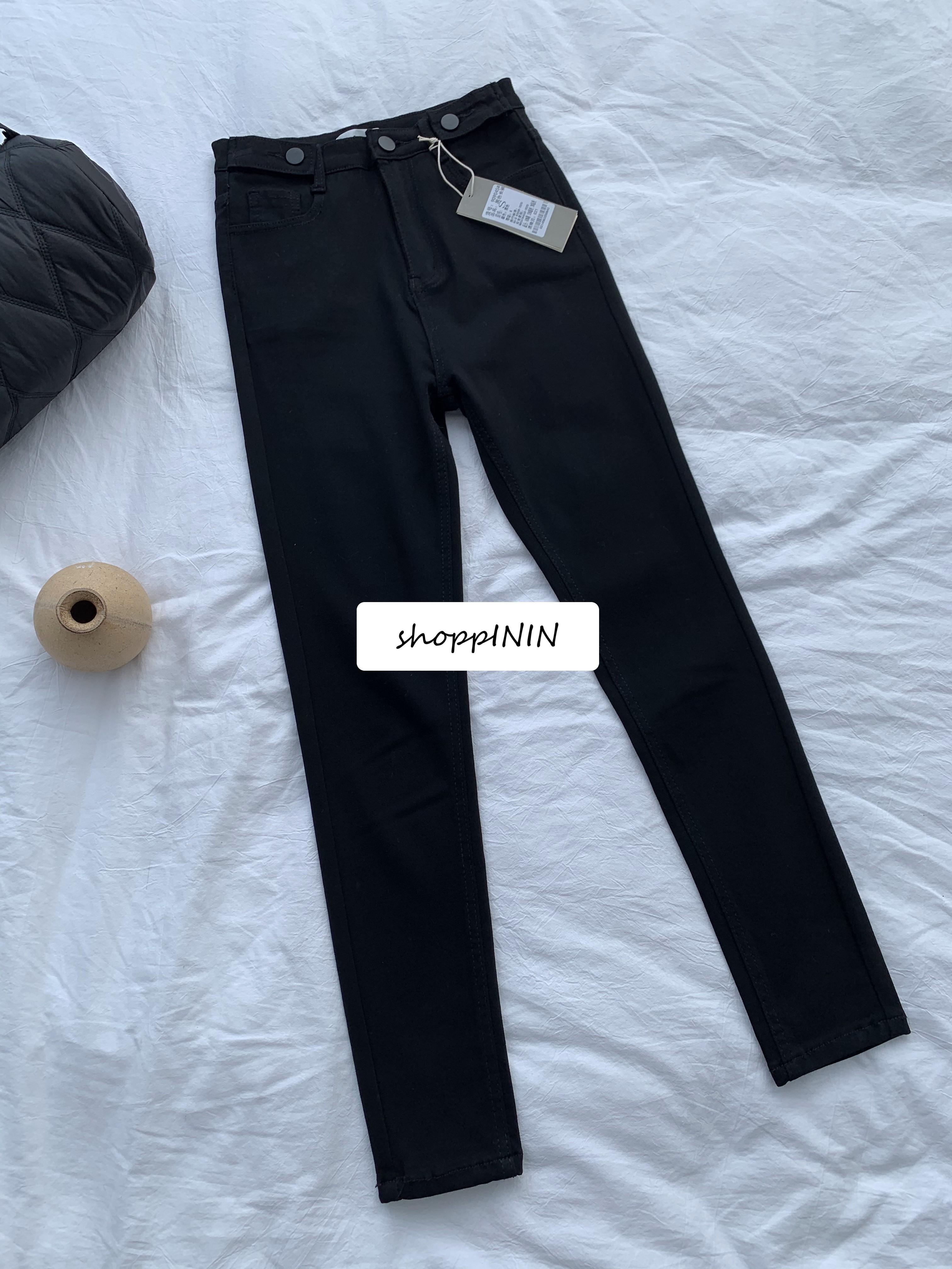 【預購】找了好久!超彈力面料又很柔軟的小黑褲鉛筆褲(S~XL)