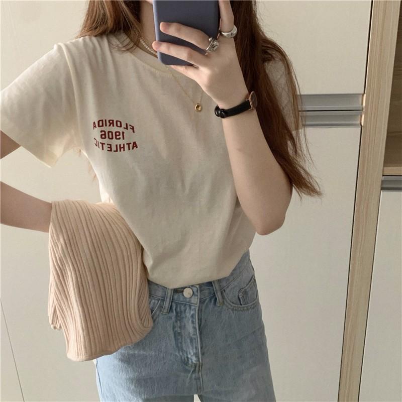 【預購】歐美風字母印花小T-shirt~2色