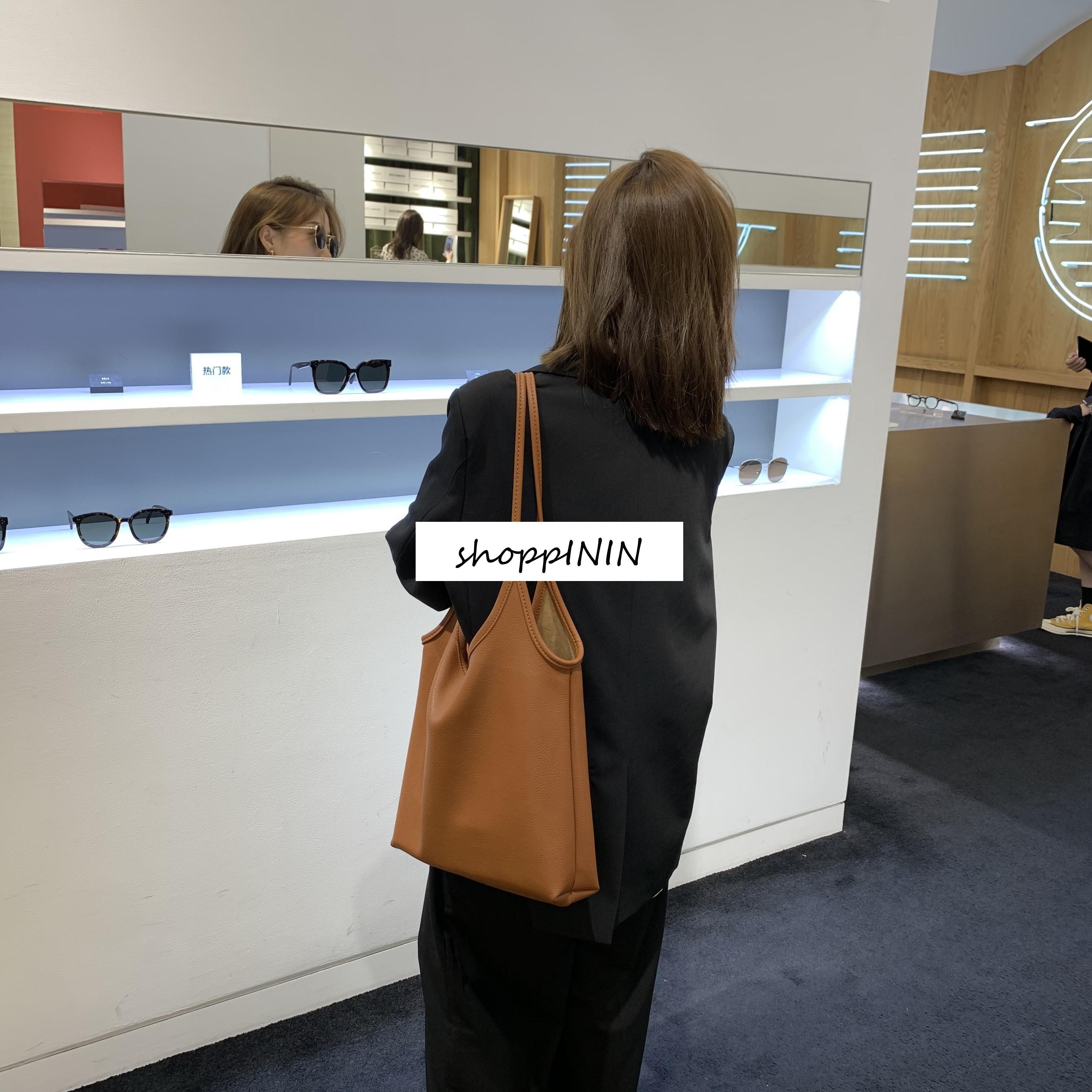 【預購】知性女子專用.手感超好 設計款二層皮托特包
