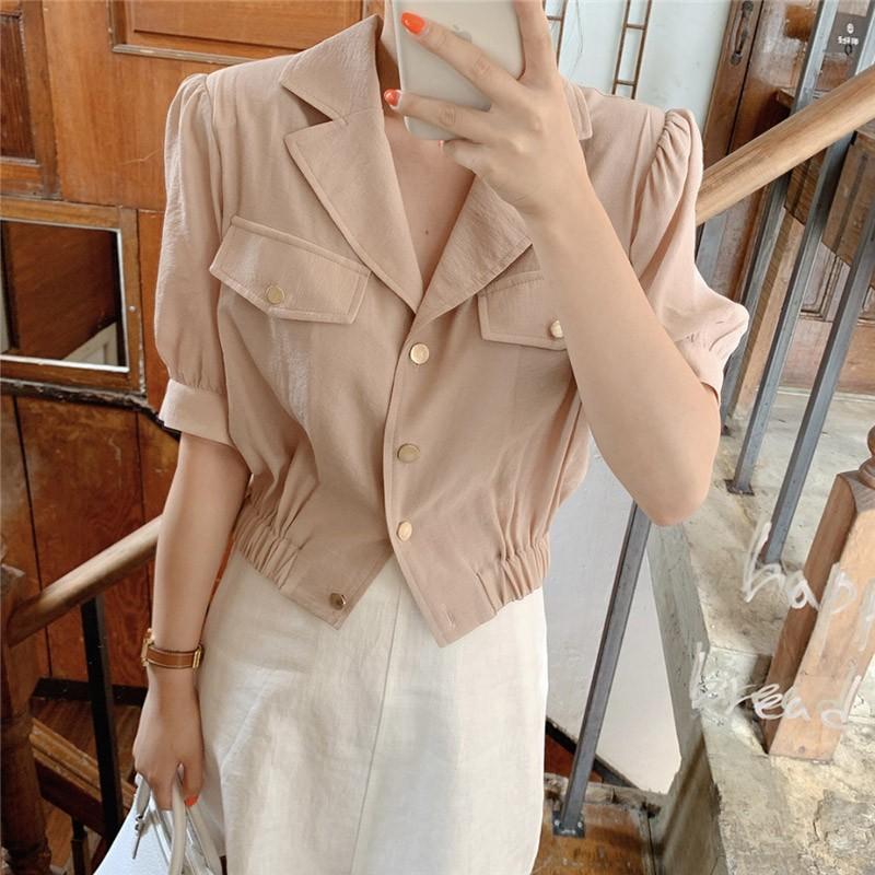 【預購】韓IG 姐姐風率性又有點甜美的上衣+短裙套裝(上下需分開購買)