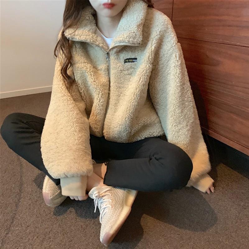 【預購】歐膩日常.更保暖一點的拉鍊羊羔毛外套