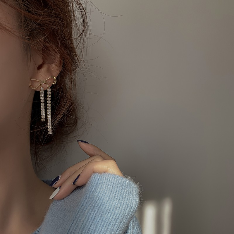 【預購】蝴蝶結 x 流蘇 輕奢感耳環(耳針、耳夾款都有)
