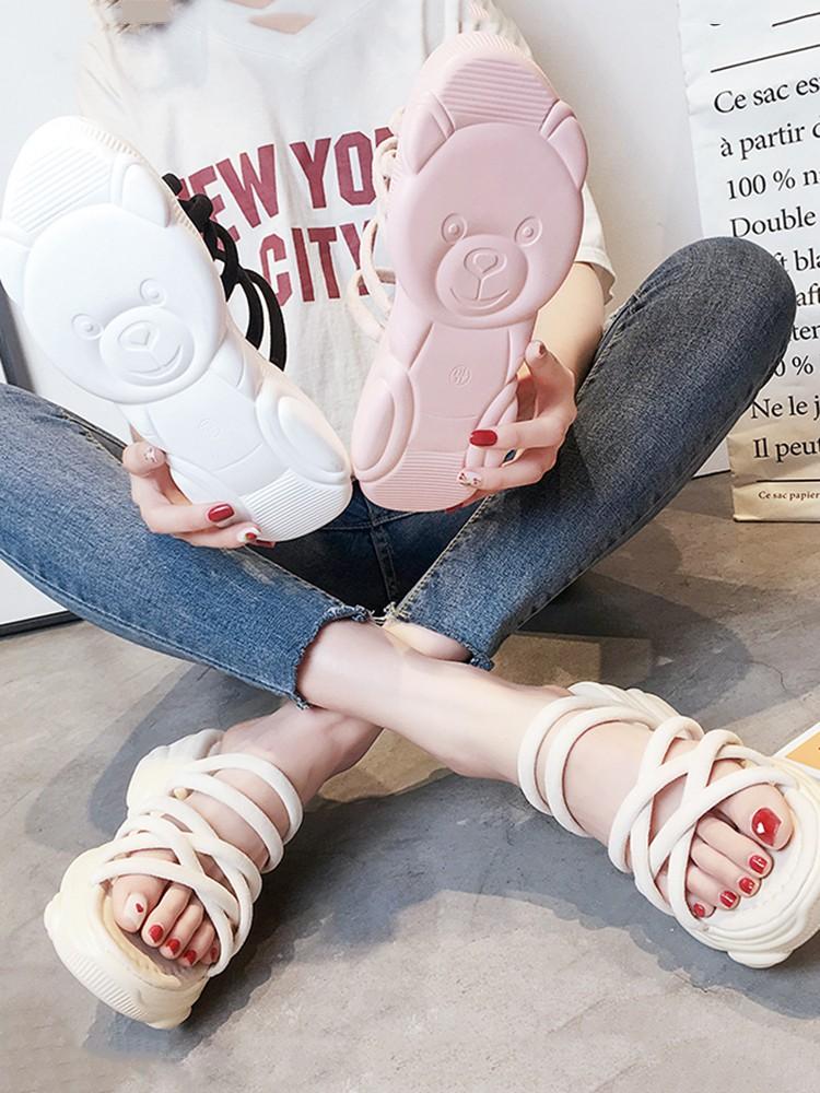 【預購】百搭款老爹鞋底兩穿式涼拖鞋~3色