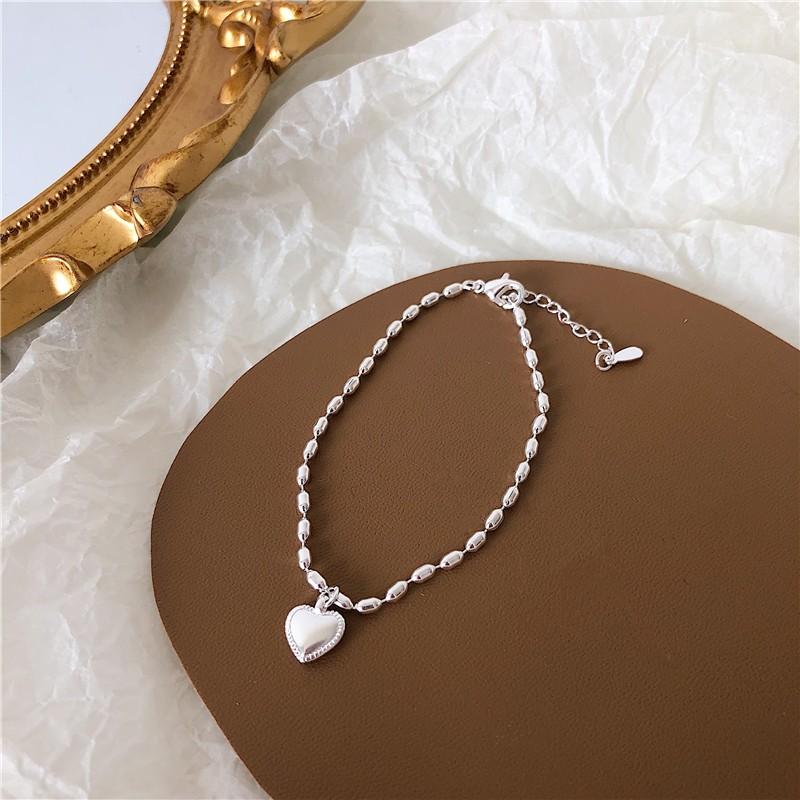 【預購】比心 ♥ 簡約質感 銀色小愛心 手鍊+項鍊組合(兩件可分開購買)