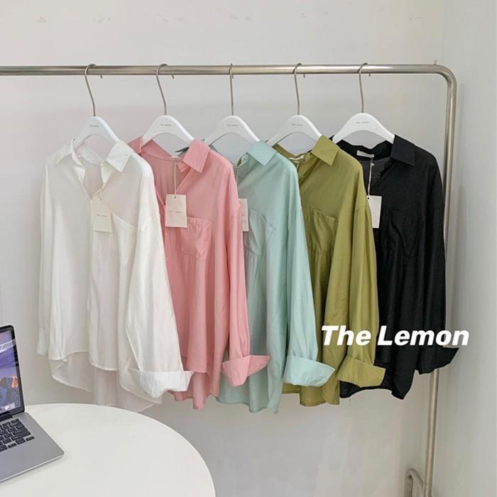 【預購】東大門款.闆娘包色!可單穿可內搭的超舒服馬卡龍色系襯衫~5色
