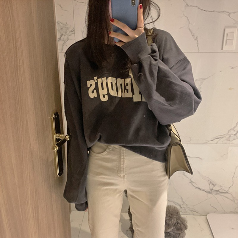 【預購】歐膩日常.字母大學Tee + 直筒微寬牛仔褲套裝~3色(兩件需分開購買)