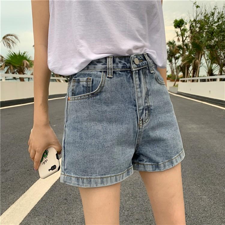 【預購】復古刷色超百搭顯瘦牛仔短褲