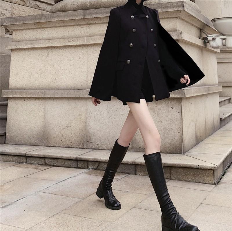 【預購】復古英倫風.氣勢款 斗篷式外套(S~XL)