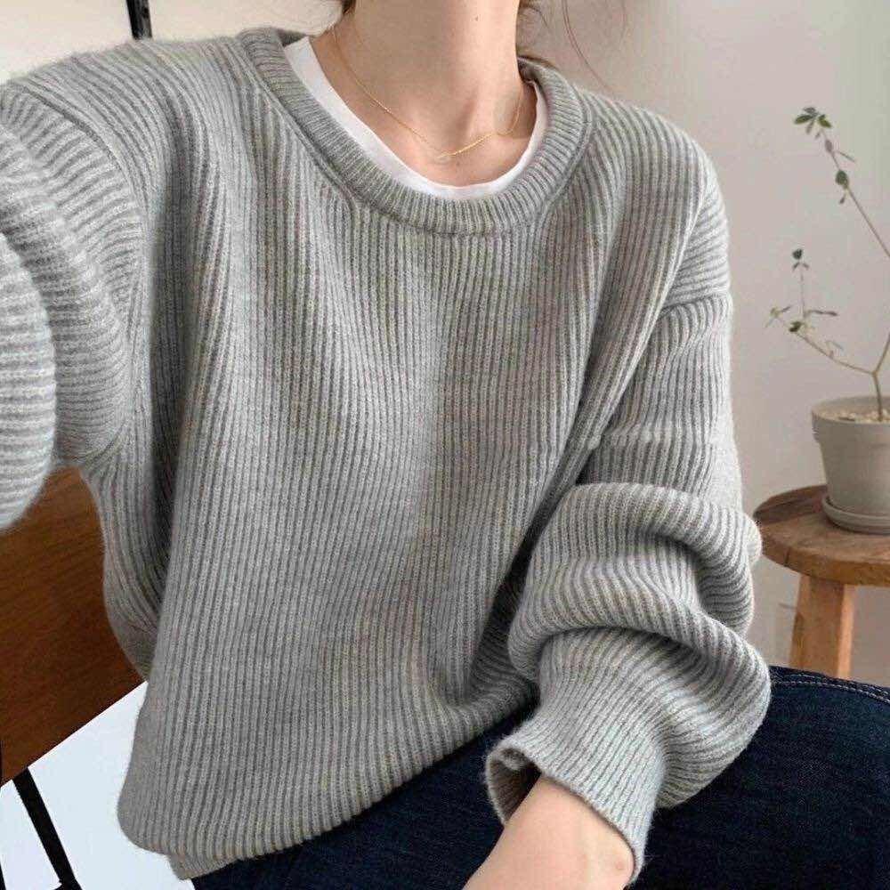 【預購】廠商回饋款!有厚度の浣熊絨 質感圓領毛衣~7色