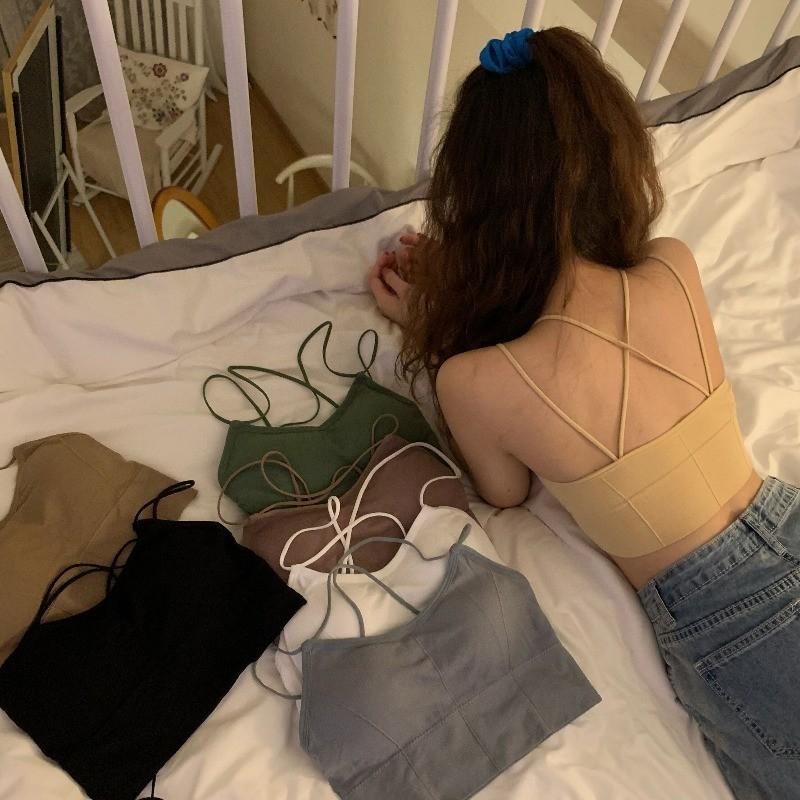 【預購】夏日必備!歐美感 交叉設計小可愛背心(含胸墊)~7色