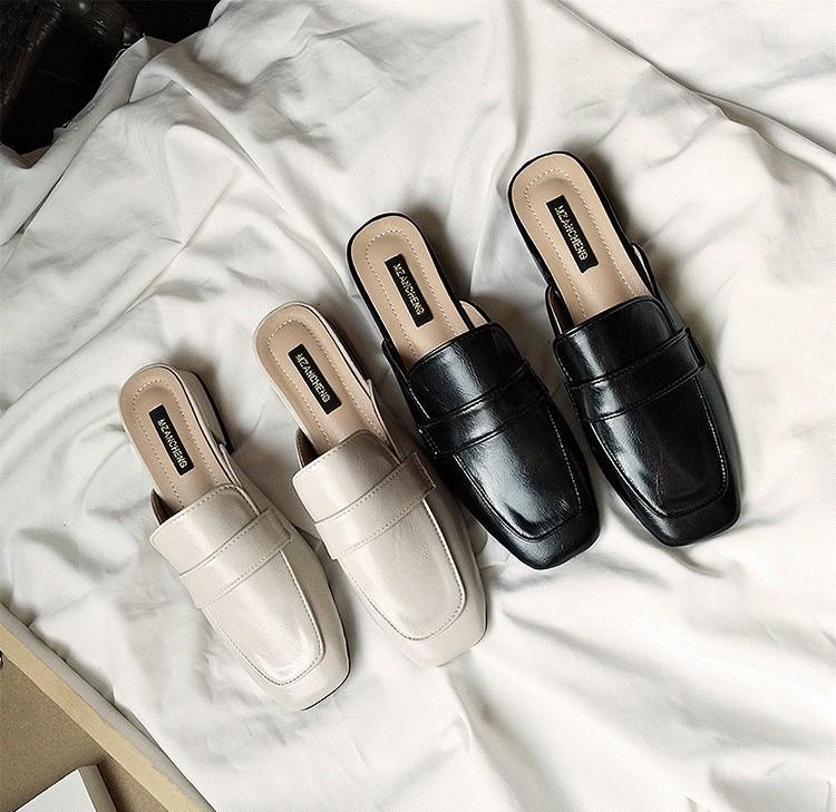 【預購】四季可穿的素面百搭穆勒鞋~3色