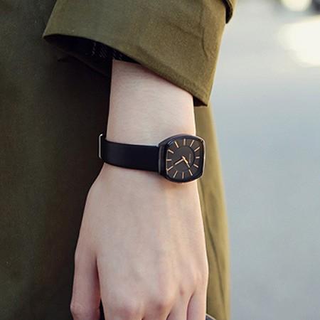 【預購】喜歡簡單.韓牌 Julius方形情侶錶~8款