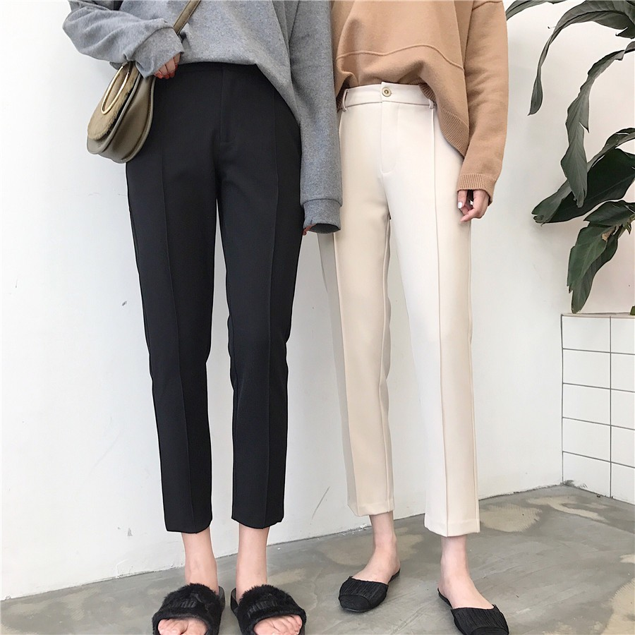 【預購】韓.超顯瘦九分西裝褲~2色