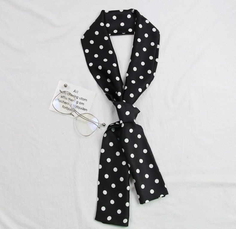 【預購】衣櫃必備穿搭小物!點點雪紡長條領巾~4色