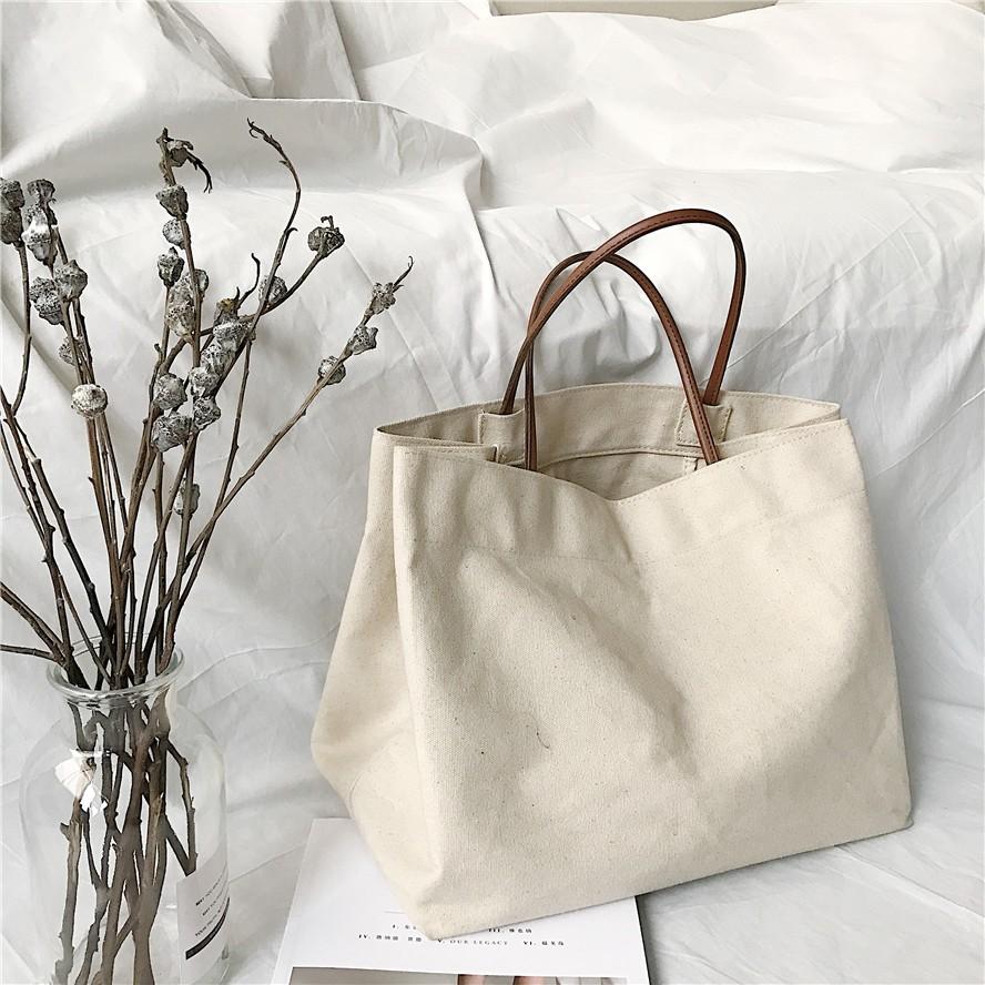 【預購】熱賣NO.2! 日系簡約文藝帆布手提包購物袋