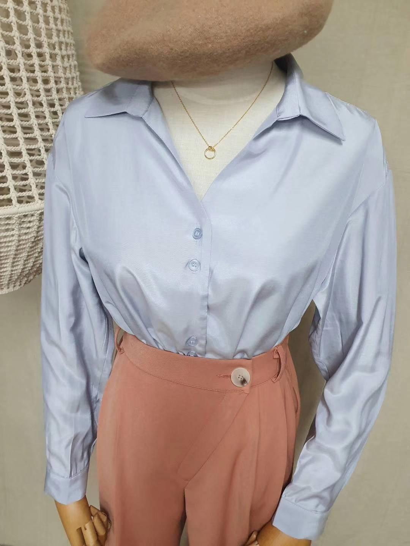 【韓製.預購】歐膩日常.法式簡約設計款襯衫上衣~3色