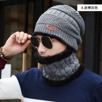 【預購】男款雪地防寒套組保暖毛帽+口罩+圍脖~8款