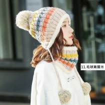 【預購】女款雪地防寒套組保暖毛帽+口罩+圍脖~18款