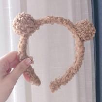【現貨】居家必備!超可愛小熊髮箍~2色