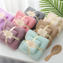 【預購】質感居家必備.北歐風 格紋珊瑚絨浴巾+毛巾組~7色